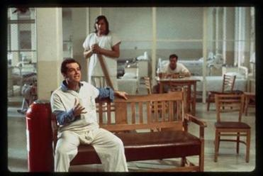 "Jack Nicholson (foreground) and Will Sampson in ""One Flew Over the Cuckoo's Nest."""